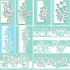 Lace Edge Border Metal Cutting Dies Scrapbook Embossing Frame Paper Decor Craft
