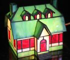 Beautiful Holiday Stained Glass Tiffany Style Lighted House Accent Night Light