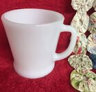 Vintage Fire King White Milk Glass Coffee Mug Anchor Hocking Cup