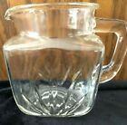 VTG MCM FEDERAL CLEAR SUNRISE STARBURST GLASS JUICE MILK PITCHER 1950'S 1 QT