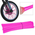 72pcs Pink Wheel Spoke Wraps Skins Covers Protector  Fit for Bikes Motorcycle