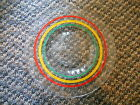Old Vintage Rainbow Stripes Plate Red Yellow Green Black Kitchen Anchor 6 1/4