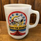 Vintage Snoopy for President Mug 1980 Collectors Series No 1 Milkglass Fire King