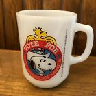 Vintage Snoopy for President Mug 1980 Collectors Series No 2 Milkglass Fire King