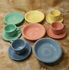 16 pc. HOMER LAUGHLIN FIESTA WARE TEA / COFFEE CUP & SAUCER & BOWLS