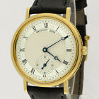 Breguet 18K Gold Classique Manual Wind Power Reserve 5907BA/12/984 Watch 35mm BP