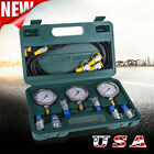 Hydraulic Pressure Guage Test Kit 9000PSI Tester No Distortion Construction USA