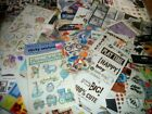 HUGE LOT Baby Boy Kids Stickers scrapbooking 54 sheets packs rub on sports cool