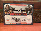 National Treasures Super Bowl Autograph Franco Harris John Stallworth 08 10 2008