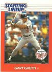 1988 Gary Gaetti Minnesota Twins Card Starting Lineup SLU MLB Baseball