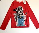 Billy Bandit Pug On Moped Red LS Top Retails 56 Price 39 Age 12 NWT