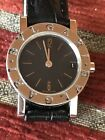 Lady Watch BVLGARI BB 23 Sld    Quartz  Stainless Steel Leather Band ##