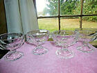 Set of 4 Clear Glass Footed Sherbet Ice Cream Pudding Bowls Federal Glass  3