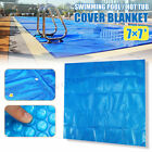 7 x 7 Spa Hot Tub Thermal Bubble Solar Blanket Cover Square Heat Retention US