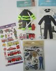 Jolees Boutique Scrapbooking Stickers Lot Police Officer Firefighter Emergency