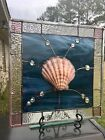 Stained Glass Window Bevels Nautilus Sea Shell Beach Ocean Suncatcher Panel
