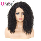 Afro Kinky Curly Synthetic Hair Wigs Natural Black for Women Party Wigs US Stock