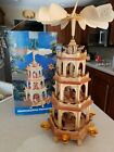 Vintage Weihnachts Pyramide German Christmas Nativity 4 Tier Windmill 235 7963