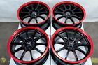 17x75 Red Wheels Fits Mazda Mazda3 Mazda5 Mazda6 Civic Infiniti G35 Accord Rims