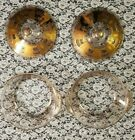 Set of 2 Vintage Gold Fire-King Georges Briard 2 Qt. Casserole Dishes with Lids