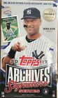 2017 Topps Archives Signature Series Postseason Edition SEALED Hobby Box 1 Auto