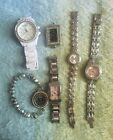 Lot Of 6 Silver And White Fashion Watches TOMMY HILFIGER GEORGE! GOOD USED...