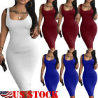 Womens Ladies Boho Long Maxi Dress Evening Party Beach Bodycon Dresses Sundress