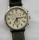 NICE Men's Timex White Face Chrono Chronograph Watch Wristwatch Indiglo Working
