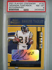 2001 Playoff Contenders 150 LaDainian Tomlinson Rookie Auto PSA 8 Chargers