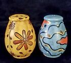 Salt Pepper Shakers Pottery Ceramic Hand Painted