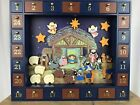 Kurt Adler Nativity Advent Calendar 24 Magnetic Piece Wooden J3767
