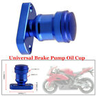 Blue Aluminum Alloy Motorcycle Engine Brake Oil Cup with Bottom Cover Accessory
