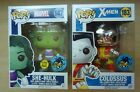 Funko Pop! lot of 2 Comikaze exclusives Marvel 147 She-Hulk & X-Men 183 Colossus