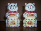 A Set of Cat Salt and Pepper Shakers With Cookies