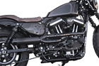 Roland Sands Track 2 Into 1 Black Black Exhaust Pipes for Harley Softail 11823
