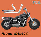 Fit Harley Dyna 2012 2017 Low Rider FXDL Dual Pipes Muffler Exhaust Kit C1