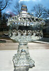 Vintage Clear Jeannette Glass Large Wedding Box/Candy Dish with Lid