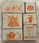 All Night Media HALLOWEEN THEMED LOT A Rubber Stamp New Set of 6