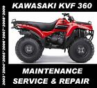 Kawasaki KVF360 ATV Quad Service Manual KVF 360 Maintenance Repair 2003 - 2009
