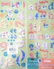 2 Alphabet Stickers Letters  Numbers 4 Sheets Jumbo BIRTHDAY Scrapbooking BT