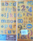 2 Alphabet Stickers Letters  Numbers 4 Sheets Jumbo PATCHWORK Scrapbooking BT
