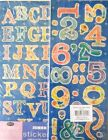 2 Alphabet Stickers Letters  Numbers 4 Sheets Jumbo DAISIES Scrapbooking B402