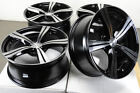 18 5x1143 Black Wheels Fits Nissan Altima Rogue Sentra Maxima Juke 5 Lug Rims