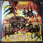 Warbringer war without end signed cover cd thrash kreator Metallica