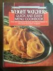 Weight Watchers Quick and Easy Menu Cookbook 250 Seasonal Recipes 1987