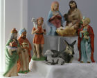 9pc vintage HOMCO Porcelain FIGURINEs Nativity set
