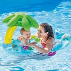 Inflatable Baby Swimming Ring Sunshade Tube Raft Safety Seats Pool Float Toys