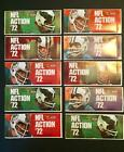 1972 SUNOCO FOOTBALL 10 UNOPENED PACKS OF STAMPS  (9 Stamps per pack)