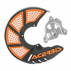 Acerbis X-Brake Vented Front Disc Cover with Mounting Kit Black/Orange for