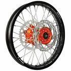 Warp 9 Complete Wheel Kit - Rear 19 x 2.15 Black Rim/Orange Hub/Silver Spokes